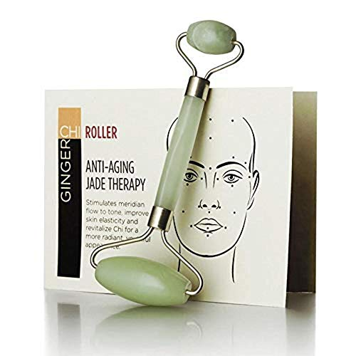 Roller Anti Aging Jade roller Therapy 100% Natural jade facial roller double Neck Healing Slimming Massager (Jade roller)