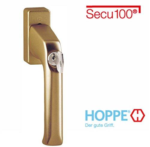 Hoppe London Aluminium Fenstergriff abschließbar F4 Bronze Secu100 013S/U34 (100 Nm), 1929840