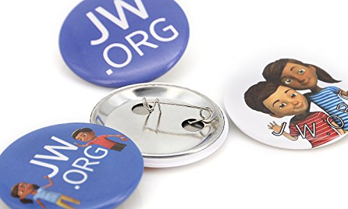 JW.ORG Buttons Jehovah's Witnesses Button Perfect Present For Jw.org Sophia Caleb Buttons (Kids-40 Pack)