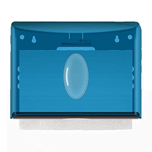 FOTGL Papierhandtuchspender, Gewerbe Toilettenpapierspender Wandhalterung Papierhandtuchhalter C-Falten/Multifold Papierhandtuchspender for Badezimmer, Küche (Color : Blue)