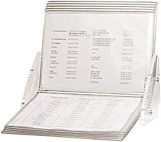 Tarifold Crystal Desk Display Unit with 10 Display Pockets, 20 Sheet Capacity (CD271)
