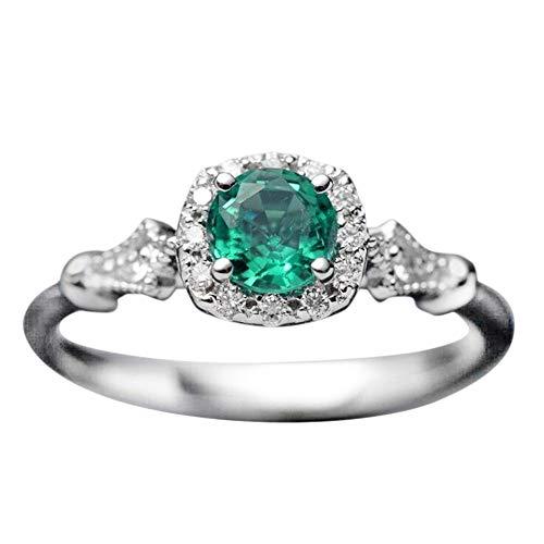 Frauen Weinlese schöner weißer Diamant Silber Verlobungs Ehering Ring YunYoud breite fingerringe günstig perlenring trauring