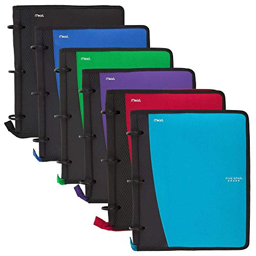 Five Star Flex Hybrid NoteBinder, 1 Inch Ring Binder, Notebook and Binder All-in-One, Color Selected For You, 1 Count (28028)