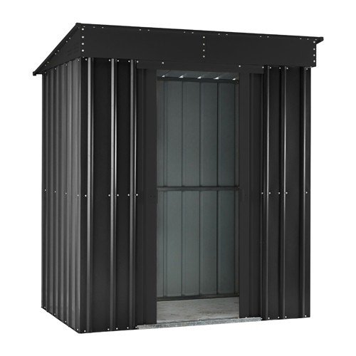 Lotus Metal Pent Shed 8x4 Anthracite Grey