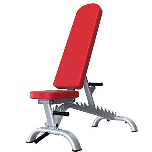 Banco de Pesas multifuncion Bench Press pectoral mayor Profesional pesas cama, ajustable banco de entrenamiento de fuerza for el entrenamiento de cuerpo completo con cierre rápido Utilidad Banco de En