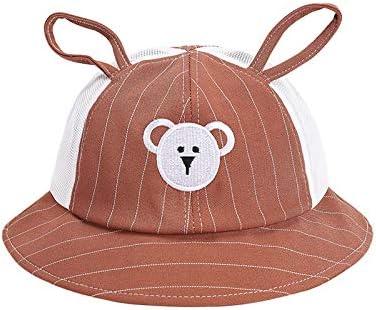 Sombreros para niños Primavera y Verano Nuevo algodón versión Coreana del Lindo Osito bebé Sombrero de Pescador Media Malla Sombrero para el Sol para niños