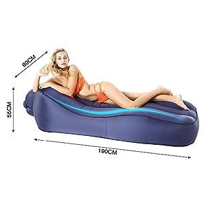 AHJSN Saco de Dormir al Aire Libre Sofá Inflable para Turismo Camping Colchón Playa Lazy Bag Bed Air Hamaca Cama Federación de Rusia L9S Azul nd Mat