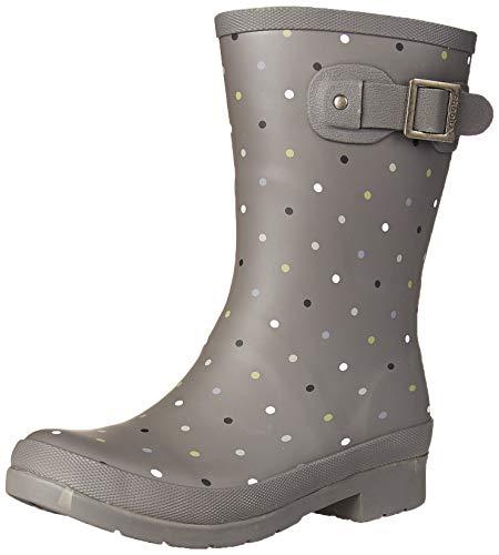 Chooka Women's Mid-Height Printed Rain Boot, Charcoal, 9