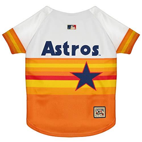 Pets First MLB Houston Astros AST-4000-SM, Orange, Small