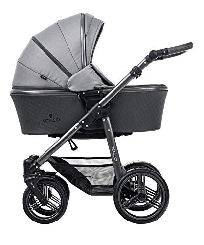 Best Prices! Venicci Carbo - 2 in 1 Travel System Natural Grey/Graphite