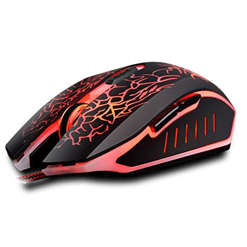 USB Wired Colorful Optical Gaming Mouse 4000DPI LED Light 6 Buttons Computer Mice