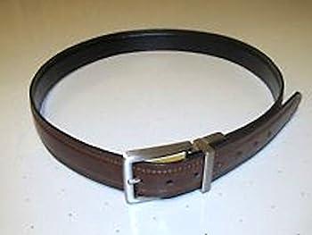 Kitchen Dockers Men's Brown Lether Belt with Gun Metal Buckle - 34 Book