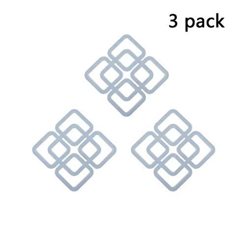 3-teiligen hohlen Isolierunterlage TPR Topfhalter Geschirrmatte Topf Rack Platzdeckchen Rutschfeste, anti-scald und langlebig (Color : Blue)