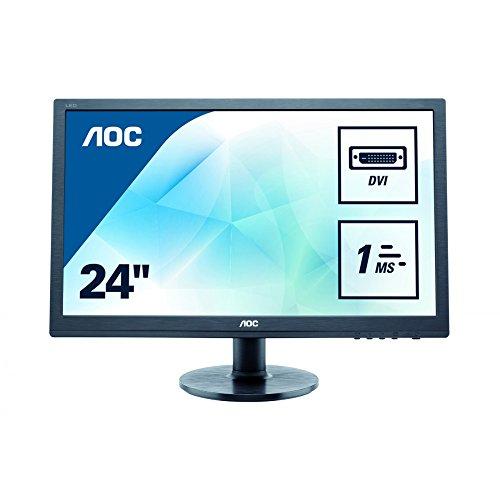 AOC E2460SD2 60,96 cm (24 Zoll) Monitor (VGA, DVI) schwarz