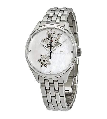 Hamilton Jazzmaster Open Heart MOP Reloj de señoras automático con esfera de diamante H32115192