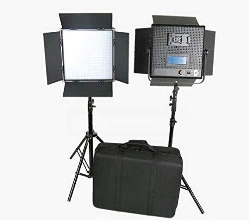 Gowe hoher CRI 2x 1024LED Video Panel Film 5600K Broadcast Panel Beleuchtung + Gratis Tasche