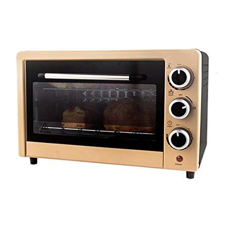 22 l elektrische oven met grote capaciteit, multifunctionele roestvrijstalen bakoven, grill met vier lagen, bediening met drie draaiknoppen, geschikt voor huishoudelijk gebruik.
