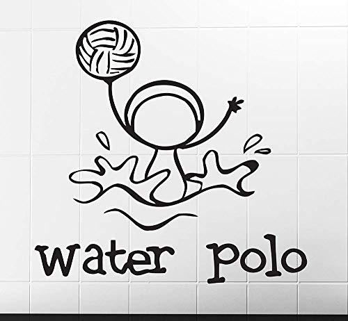 Wandaufkleber, Wandkunst, Wand Tattooone Des Sports Wasserball Bild Wandaufkleber Wasserdicht Vinyl Aufkleber Kinderzimmer Kreative Dekor Aufkleber Wandbild 43X42Cm