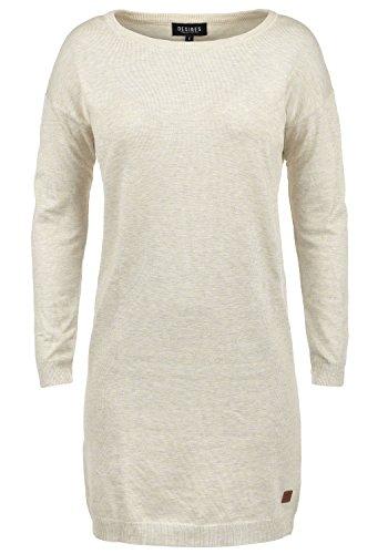 DESIRES Ella Damen Strickkleid Feinstrickkleid Kleid Mit Rundhals, Größe:L, Farbe:Oyster Grey (8215)
