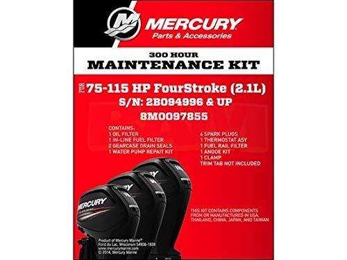 Mercury Fueraborda 75-115 HP 4 Tiempos 2.1L 300 Horas Mantenimiento Kit 8M0097855