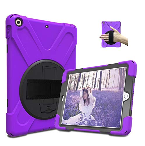 LONGSAND Compatible with Samsung Galaxy Tab S6 10.5' 2019/S6 Lite 10.4' Case Modern Tablet Shell for Woman Man PC Protective Cover with Kickstand & Adjustable Hand Strap,Purple,S6 Lite 10.4'