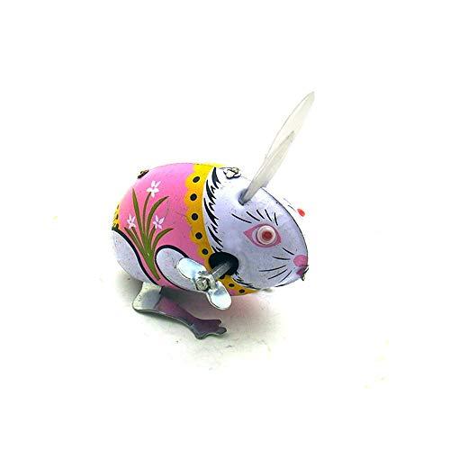 Markc 2pc clockwork conejo hecha a mano nostálgica nostálgica juguetes personalidad creativa barra tienda ventana visualización accesorios niños y niñas clockwork cumpleaños adulto divertido juguete r