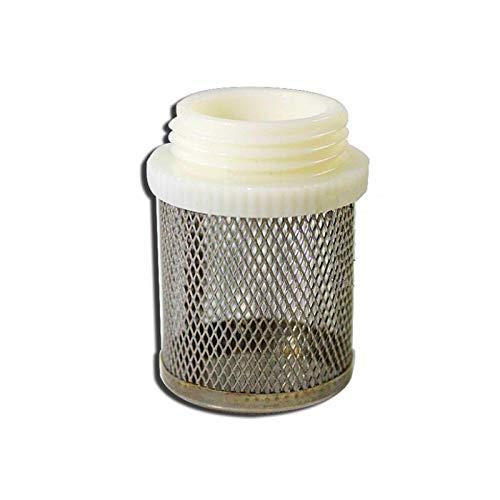 Acero inoxidable valor de comprobación de filtro inferior del filtro del pie redondo cilíndrico agua del grifo colador DN15 DN20 1' 1.2' 1.5' 2' rosca macho (Color : DN40)