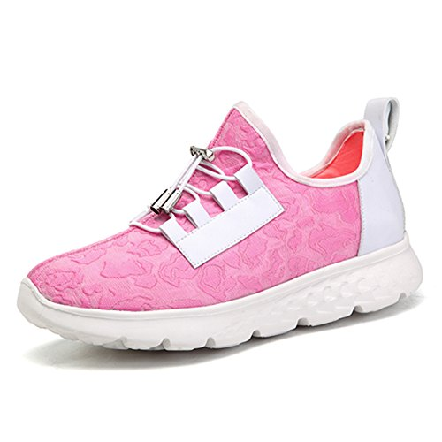 gracosy Blinkende Sneaker, Damen USB Aufladung LED Licht Schuhe Casual Sport Sneaker für Weihnachten Halloween, Pink (Rose), 37 EU