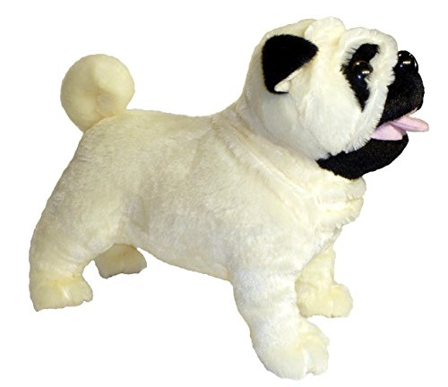 Adore 12' Standing Misfit The Farting Pug Dog Plush Stuffed Animal Toy