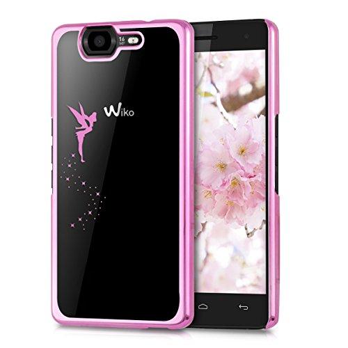 kwmobile Wiko Highway 3G / 4G Hülle - Handyhülle für Wiko Highway 3G / 4G - Handy Case in Fee Design Pink Transparent