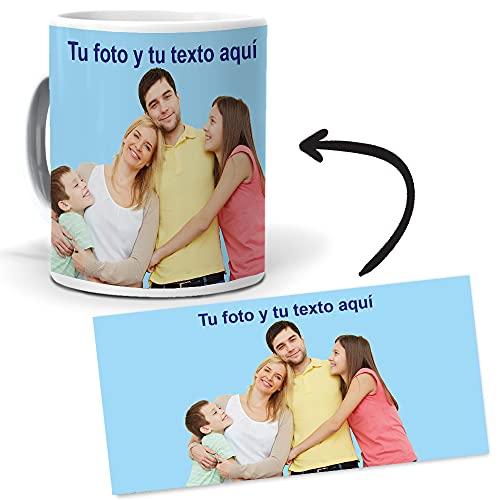 mundohuevo Taza Personalizada con Foto y Texto. Regalo Original Exclusivo Imagen Personalizada.