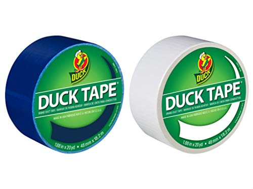 Duck Brand Color Duct Tape Hanukkah Holiday Combo 2-Pack, Blue and White, 1.88 Inches x 20 Yards Each Roll, 40 Yards Total