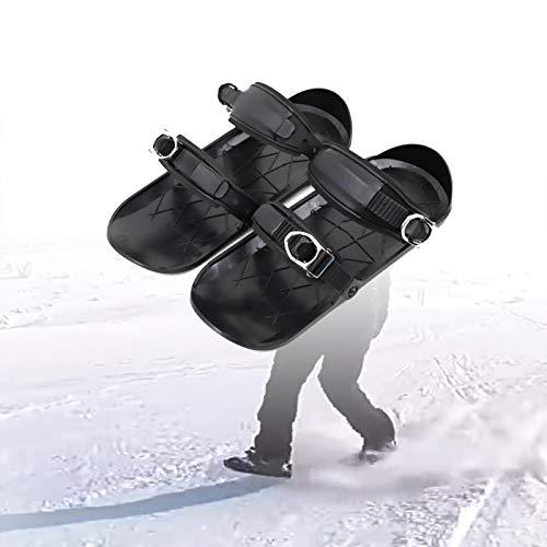 XMYING Mini Zapatos De Patinaje De Nieve, Mini Esquís Al Aire Libre, Botas De Esquí Ajustables, Botas De Esquí Portátiles, Botas De Esquí para Adultos, Equipo De Esquí De Invierno Unisex,A,1 PCS