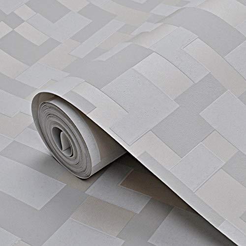 Antifouling en Antibacterieel behang Modern Minimalistisch Mozaïek behang 3D Slaapkamer Woonkamer tv Achtergrond Muur Papier Grijs