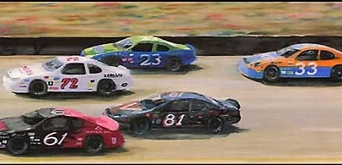Wallpaper Border Tampa Mall Rare Kids Boys or Sports Car Racetrack Girls NASCAR