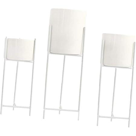 grau Metall Pflanzgefäß AMBIENTE auf Gestell 2er Set