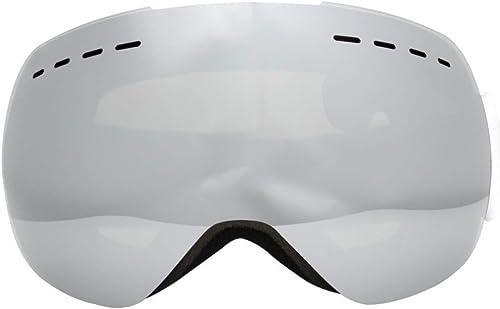 Zhiming Lunettes de Ski à Double Couche de Prougeection oculaire sphérique Anti-buée