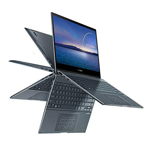 "ASUS ZenBook Flip 13 UX363EA-EM087T - Portátil Convertible de 13.3"" FullHD (Intel Core i5-1135G7, 8GB RAM, 512GB SSD, Intel Iris Xe Graphics, Windows 10 Home ) Gris Pino - Teclado QWERTY español"