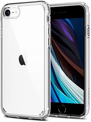 Spigen Ultra Hybrid [2nd Generation] (Anti-Yellowing PC Back) Designed for iPhone SE 2020 Case/Designed for iPhone 8 Case (2017) / Designed for iPhone 7 Case (2016) – Crystal Clear