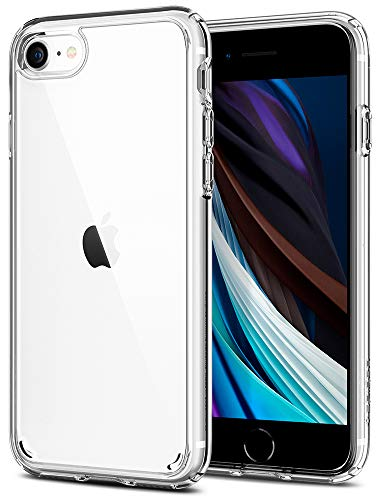 Spigen Ultra Hybrid 2 Kompatibel mit iPhone SE 2020 Hülle, iPhone 8/7 Hülle Einteilige Transparent Schutzhülle Hülle Crystal Clear 042CS20927