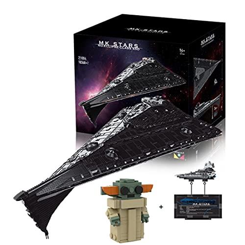 KEAYO Technik Sternenzerstörer Modell, Mould King 21004, 10368 Teile Groß UCS Super Star Destroyer MOC Klemmbausteine Bauset Kompatibel mit Lego