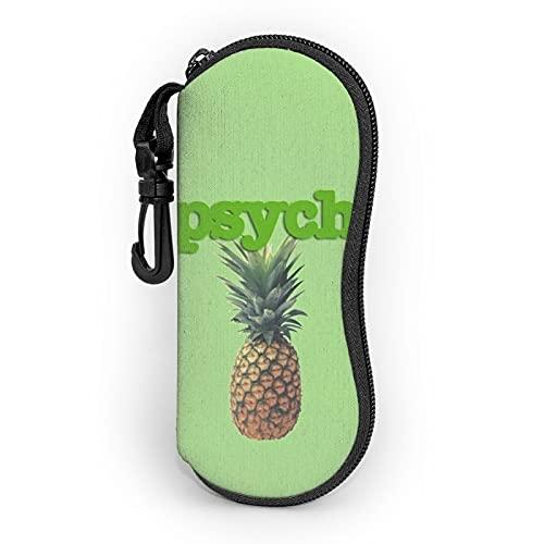 Epaynetwork Fundas de Gafas Pineapple Tv Fruit Shawn Gus Png Psych Cinturón de neopreno impermeable con cremallera gafas de seguridad mosquetón gafas de sol portátiles bolso suave