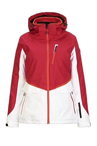Killtec Dorya ski-jack voor dames, snowboardjas, functionele jas met afritsbare capuchon en sneeuwvanger