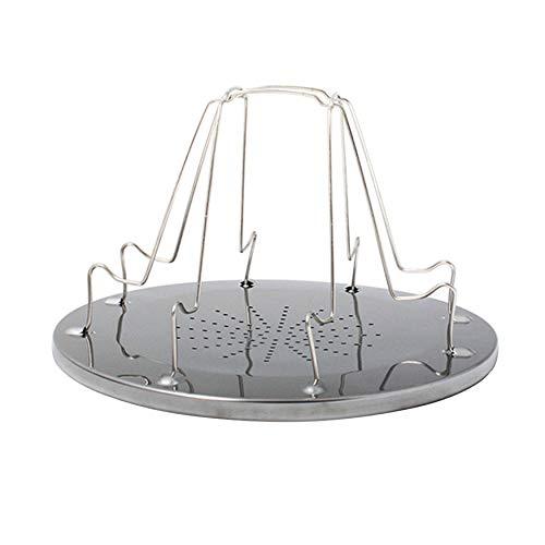 N / A Utensilios de cocina simple portátil de acero inoxidable Tostadas para acampar al aire libre Tostadora plegable portátil parrilla multiusos camping Accesorios