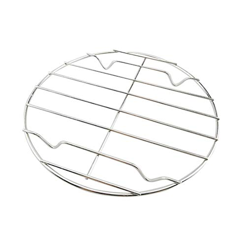 BESTONZON Round Steamer Rack Stand Stainless Steel Steamer Basket Round Steaming Cooling for Instant Pot/Pressure Cooker Cooking Canning Toast Bread(20cm)