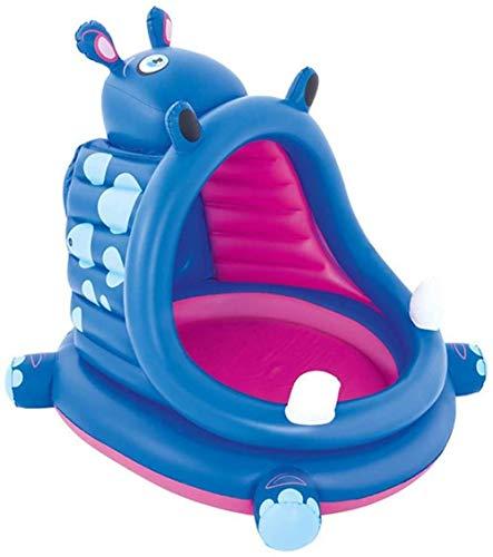 Opblaasbaar kinderbad voor kinderen, zonnescherm Draagbaar familie opblaasbaar zwembad voor tuin binnen buiten, eenvoudig te monteren, 112 x 99 x 97