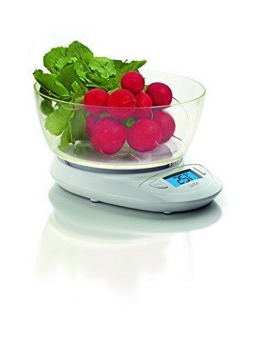 Balanza de cocina digital con BOL Laica KS1019 colo blanco 5 kg,, gran display retroiluminado. Encendido y apagado automático, función TARA.