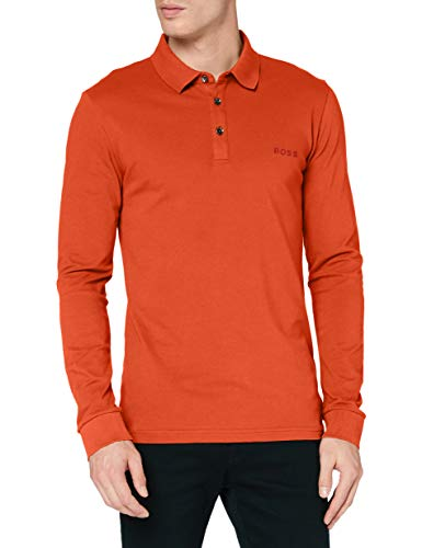 BOSS Passerflash Camisa de Polo, Color Naranja Oscuro 803, XL para Hombre