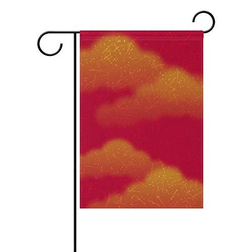 Garden Flag Sky Doodle Doppelseitige Hofdekoration Haus Banner 12,5x18 Zoll für Home Anniversary Outdoor Decor