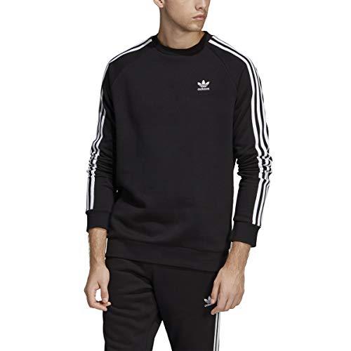 adidas Originals Men's 3-Stripes Crew, black, Large